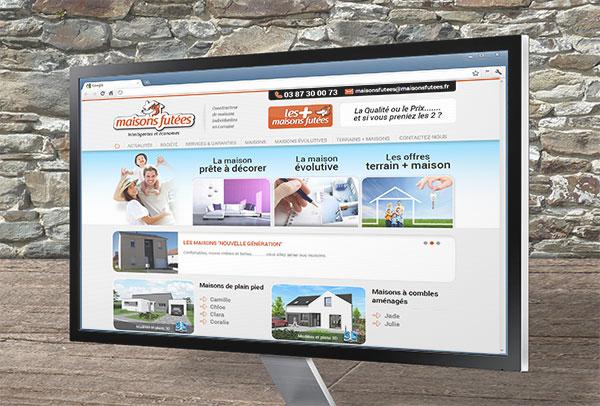 Site web- vue n°1 -Maisons Futées