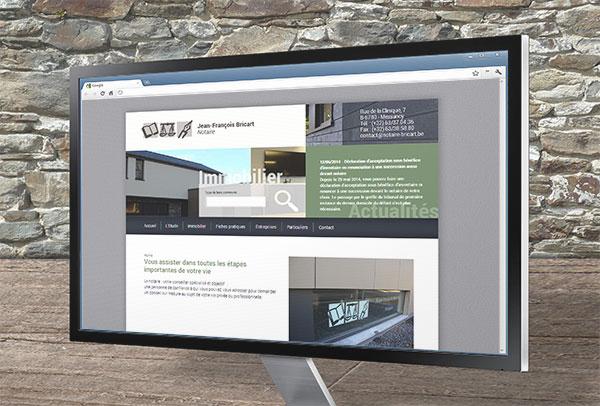 Site web et slideshow- vue n°1 -Notaire Bricart