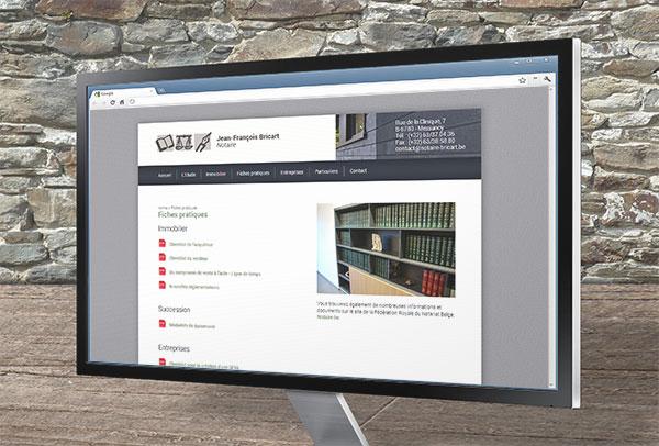 Site web et slideshow- vue n°2 -Notaire Bricart