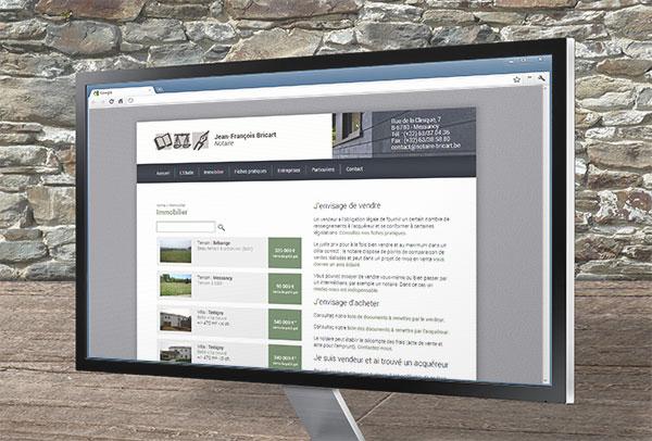Site web et slideshow- vue n°3 -Notaire Bricart