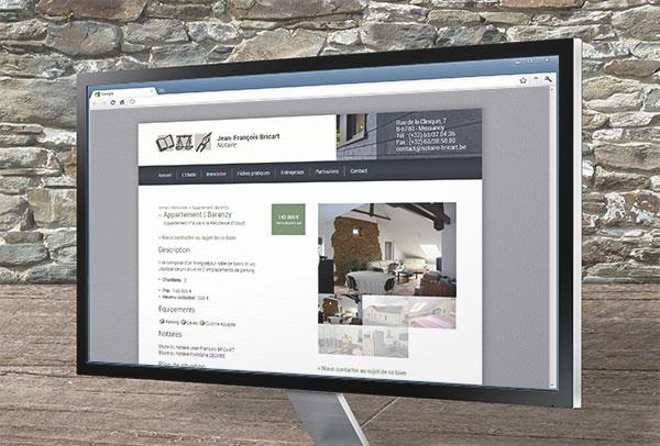Site web et slideshow- vue n°4 -Notaire Bricart
