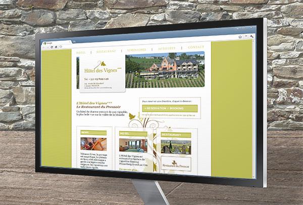 Site web- vue n°1 -Hôtel des Vignes