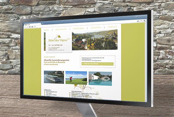 Site web- vue n°3 -Hôtel des Vignes