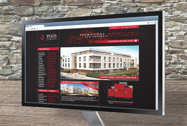 Site web- vue n°1 -Yous Real Estate
