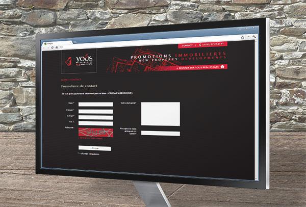 Site web- vue n°2 -Yous Real Estate