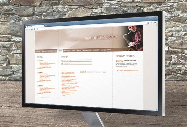 Site web- vue n°1 -Damien Prud'homme