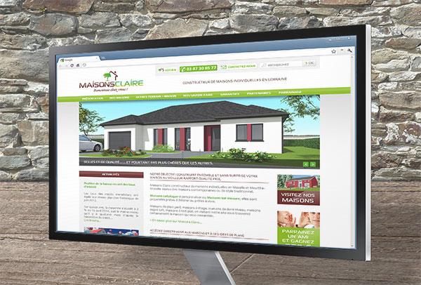 Site web- vue n°1 -Maisons Claire