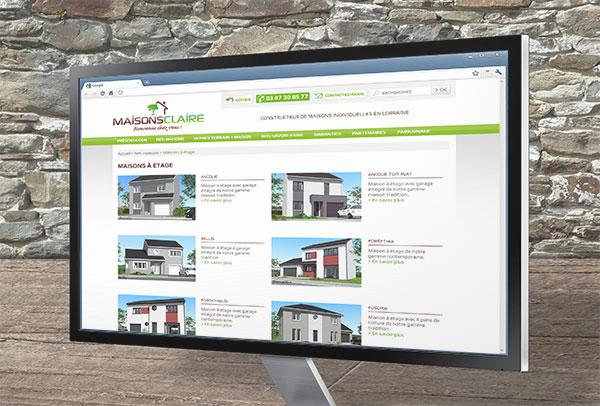 Site web- vue n°2 -Maisons Claire
