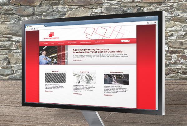 Site web- vue n°1 -Agilis Engineering